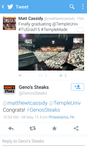 Genos Steaks Twitter