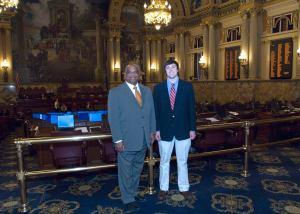 The Pennsylvania State Capitol with former state Rep. Joseph Preston, Jr.