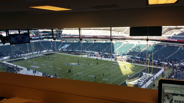 View from the Eagles Press Box. Photo Credit: Matthew Cassidy