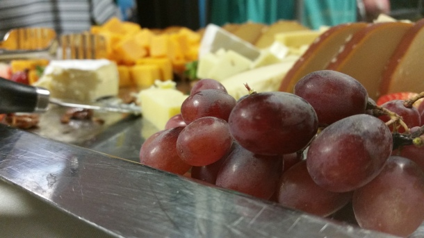 Close-up from a wine and cheese event at Blue Bell Country Club who contracted The Town Dish for social media content. Photo: Matt Cassidy
