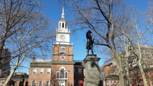 Statue of Commodore John Barry, Father of the American Navy, at Independence Hall. (Photo Credit: Matt Cassidy)