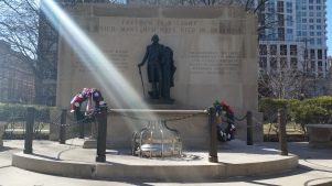 Tomb of the Unknown Revolutionary War Soldier - Washington Square Park. (Photo Credit: Matt Cassidy)