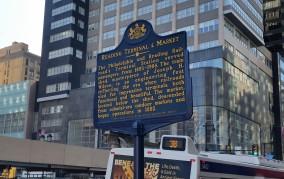 Pennsylvania Historical Marker: Reading Terminal Market. (Photo Credit: Matt Cassidy)
