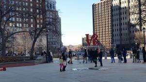 JFK Plaza facing northwest toward the Ben Franklin Parkway and Art Museum. (Photo Credit: Matt Cassidy)