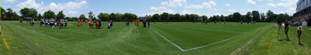 Panorama shot of the fields at the NovaCare Complex. Photo Credit: Matt Cassidy