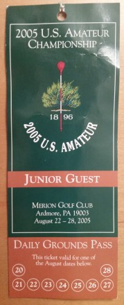 2005 U.S. Amateur at Merion Golf Club.
