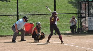Allyson Wallauer clubbed a two-run home run in the first inning to give Avon Grove the lead, 2-0. (Photo: Matt Cassidy)
